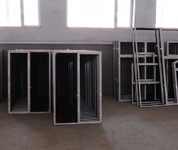 Super group white steel doors and windows workshop